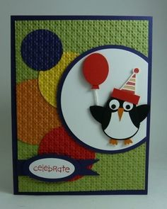 penguin card using the su owl punch from Michelle's Stamping Blog by josie