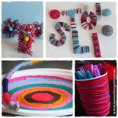 activite laine collage