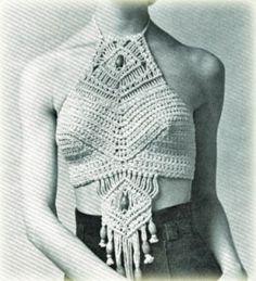 Vintage 1960s macrame top, gorgeous.
