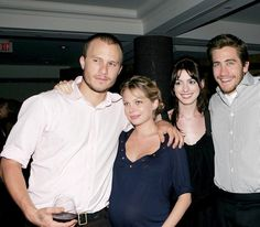 Heath Ledger, Michelle Williams, Anne Hathaway and Jake Gyllenhaal at the 2005 Toronto Film Festival