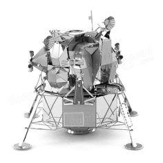 Kit in acciaio inox puzzle 3D fai da te aipim modello di modulo lunare color argento