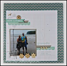 Rose Blossom Legacies: Grenada (Dream Pop paper - National Scrapbooking Month special from Close To My Heart)