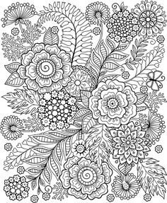Coloring pages Wild Flowers on Behance