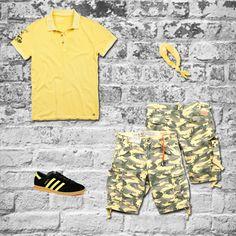 #40weft #SS2014 #camouflage #bermuda #menfashion #fashionblogger #repin #yellow www.40weft.com