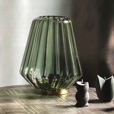 Pleated Glass Lamp