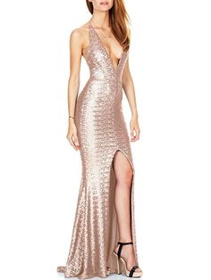 Deep V neck Backless Sexy Dress Side Splite Robe Sexy Bodycon Maxi Dress Sequined Bandage Club Party Dresses Luxury Pencil Dress Sequin Evening Dresses, Sexy Evening Dress, Sequin Maxi, Evening Gowns, Prom Dresses, Bridesmaid Dresses, Evening Party, Casual Dresses, Formal Dresses