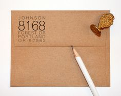 Self Inking Return Address Stamp custom by yellowfishpaperie, $31.50
