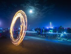 A fire dancer in the desert photo from #treyratcliff Trey Ratcliff at www.StuckInCustom... - all images Creative Commons Noncommercial