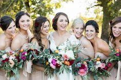 Duck Dynasty's Reed Robertson married Brighton Thompson in Monroe, Louisianna this past October. Thompson's bridesmaids wore pale pink dresses by Jenny Yoo while she is in a white, lace Allure gown.