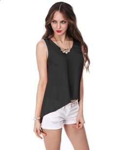 Ziza Chain Detail Sleeveless Blouse 27