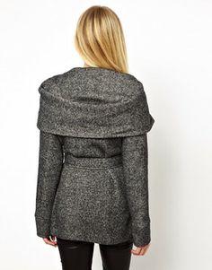 New Look Belted Snood Coat