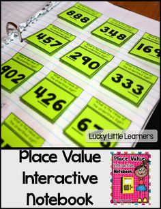 What's Included in this product: *Explanation of Interactive Math Notebooks *Place Value Mini-Posters *Roll It *Place Value Bubble Map *Ones, Tens, and Hundreds Flip Flaps *Base Ten Block Flip Flaps *Expanded Form Flip Flaps More, 10 Less, 1 M Interactive Student Notebooks, Math Notebooks, Reading Notebooks, Math Place Value, Place Values, Math Strategies, Math Resources, Second Grade Math, Grade 2