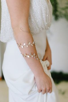 gold leaf bridal accessory