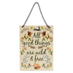 George Home Wild and Free Woodland Hanging Sign | Home Accessories | ASDA direct