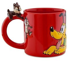 Disney Store Anniversary Pluto with Chip and Dale Mug / Cup Disney Coffee Mugs, Cute Coffee Mugs, Cool Mugs, I Love Coffee, Tea Mugs, Coffee Cups, Disney Cups, Disney Kitchen, Chip And Dale