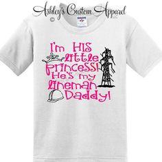 Lineman Daddy- I'm His Little Princess by AshleysCustomApparel on Etsy https://www.etsy.com/listing/196871641/lineman-daddy-im-his-little-princess