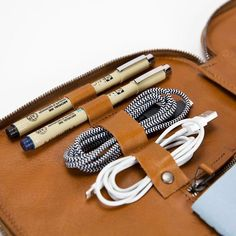 Leather accessories for travel & tech - designers of the Mod Tablet, Cord Taco, Tech Dopp Kit, Venture Backpack, Mod Laptop, and other leather goods.