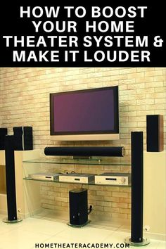 When it comes to your home theater, improving the ambiance is a matter of experience. One of the best ways to improve the ambiance is to increase the volume. Home Theatre Sound, Best Home Theater, At Home Movie Theater, Home Theater Speakers, Home Theater Rooms, Home Theater Design, Home Theater Projectors, Media Room Design, Surround Sound Systems