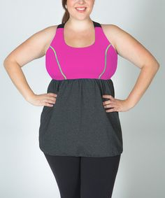 (built in bra - perfect for the top-heavy woman!)  #zulily @brandy riddle this work out top is so cute!