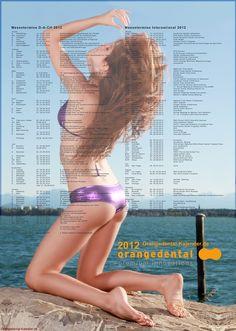 Orangedental Kalender 2012 - Kalender Bild - Fotograf Rod Meier, Ulm - Kalenderseite mit allen Messeterminen von Dentalmessen