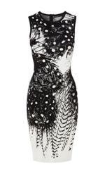 black & white dot feather pattern dress by Karen Millen Polka Dot Bodycon Dresses, Dot Dress, Karen Millen, Tribal Mode, Feather Pattern, Feather Print, Dress Patterns, Pattern Dress, Tribal Fashion