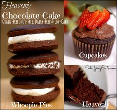 Grain-Free, Nut-Free, Dairy-Free &  Low-Carb Whoopie Pies! ~ SatisfyingEats.com  Sub powdered erythritol and almond milk.
