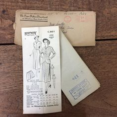 Hey, I found this really awesome Etsy listing at https://www.etsy.com/au/listing/293122465/vintage-dressmaking-pattern-from-1947