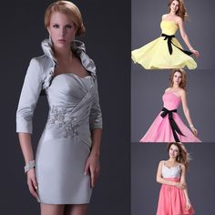 US FREE SHIP Short prom party evening dresses bridesmaid homecoming ball gown #GraceKarin #BallGown #Formal