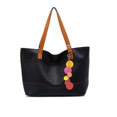 KERAL Women Shoulder Bags Totes Hobo Handbag Chain Pendants Sweet Cute Color Black Keral,http://www.amazon.com/dp/B00DU8QTXQ/ref=cm_sw_r_pi_dp_hFuZsb0857456063