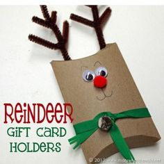 Reindeer Gift Card Holders need to see if I can do this with TP rolls.