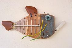 Fishing can be a great stress reliever. Find out more about fishing as a stress relieve, including tips on catching fish and staying safe. Metal Fish, Wood Fish, Fish Wall Art, Fish Art, Homemade Fishing Lures, Steampunk Theme, Fisherman Gifts, Fish Sculpture, Found Object Art