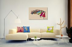 Home Décor With Kids Artwork - LillyPopArt http://lillypopart.com/