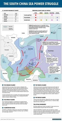 MAP: The World's Next Big Global Showdown Is Already Simmering In The South China Sea