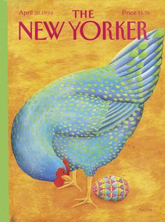 The New Yorker - Monday, April 20, 1992 - Issue # 3505 - Vol. 68 - N° 9 - Cover by : Jenni Oliver
