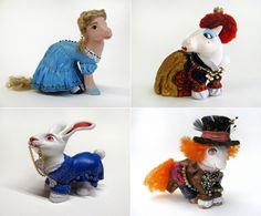 """Mari Kasurinen adds """"My Little Alice"""" to her growing collection of Alice in Wonderland-themed My Little Pony mods, which, in themselves, are part of Kasurinen's ongoing """"My Little Pop Icons"""" sculpture series."""