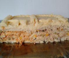 Torta salgada fria de dois recheios da Lu                                                                                                                                                                                 Mais