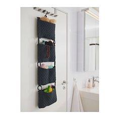 NORDRANA Hanging storage, gray - gray - IKEA. Something like this... Hang dryer and straightener on wall!