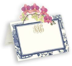 Orchid Die Cut Personalized Placecards