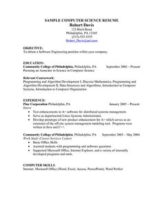 computer science resume example are the occasions that we value you as a kind of perspective can not make everything a terrific resume and right