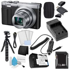 Panasonic Lumix DMC-ZS50 12.1 MP Wi-Fi GPS Digital Camera (Silver) + DMW-BCM13 Replacement Lithium Ion Battery + External Rapid Charger + 32GB SDHC Class 10 Memory Card + Small Case + 12-Inch Flexible Tripod with Gripping Rubber Legs + Mini HDMI Cable + SDHC Card USB Reader + 3pc LCD Screen Protectors + Deluxe Cleaning Kit + Memory Card Wallet Brand Specials Bundle  http://www.lookatcamera.com/panasonic-lumix-dmc-zs50-12-1-mp-wi-fi-gps-digital-camera-silver-dmw-bcm13-replacement-lith..