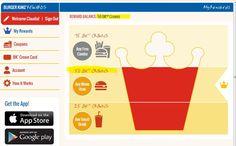 Programa de Recompensas de Burger King : Whoper u otro producto free por registrarte