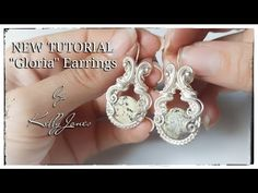 Hello, and welcome to my latest earrings tutorial. Wire Wrapped Earrings, Wire Earrings, Wire Jewelry, Earring Tutorial, Wire Weaving, Simple Earrings, Round Beads, Handcrafted Jewelry, Metallica