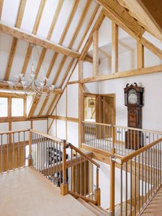 inspired design by oakwrights Bannister, Joinery, Beams, Stairs, Traditional, House, Interiors, Home Decor, Carving