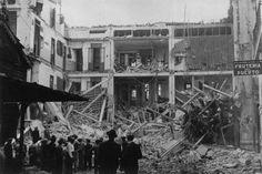 Bombardeo en Valencia durante la guerra civil.