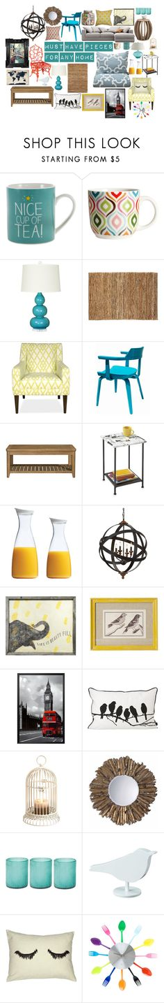 """""""my furniture faves"""" by kaitlynludes ❤ liked on Polyvore featuring interior, interiors, interior design, home, home decor, interior decorating, Nöe, Happy Jackson, H&M and Bungalow 5"""