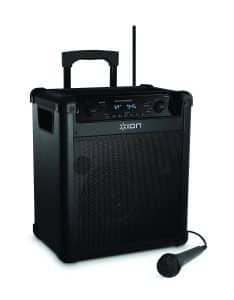 ION Audio Block Rocker , Portable Bluetooth Speaker with Mic, Radio, and Wheels & Handle for Transport Model] Bluetooth Gadgets, Cool Bluetooth Speakers, Top Selling Products Online, Best Karaoke Machine, Portable Speaker System, Shower Speaker, Usb, Audio, Wheels