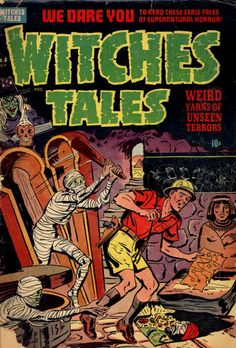 Comic Book Cover For Witches Tales #4