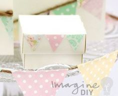 Wedding favour box favours table decoration to make at home. DIY wedding ideas and design guide, find materials to make your own wedding stationery at www.imaginediy.co.uk