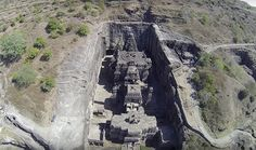 Kailasa Temple in Ellora Caves is one of the marvelous peace of divine architecture from the ancient India.