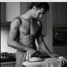 sexy--- a man ironing. oh, look he's naked too! Iron Man, How To Iron Clothes, Domestic Goddess, Male Form, Perfect Man, Perfect Husband, Gorgeous Men, Male Models, Sexy Men